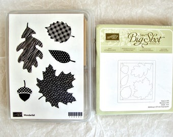 Brand New Stampin Up Wonderfall Stamp Set and Matching Autumn Accents Bigz Die, Stamp and Die Set, Stampin Up Stamp and Matching Die Set