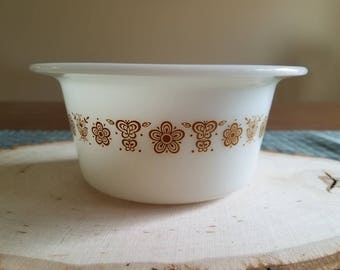 SALE!! 20% OFF. Pyrex Butterfly Gold Butter Bowl