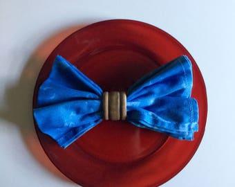 4pk indigo dyed cloth napkins