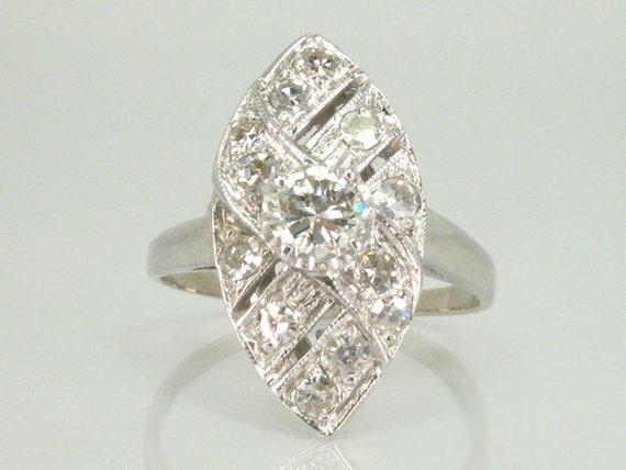 antique ring navette ring appraisal included