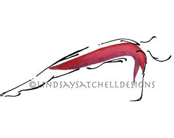 Upward Plank - Yoga Art Print   Yoga Gifts, Yoga Studio Decor, Yoga Inspiration, Inspiration Gifts, Gift, Inspiration Art