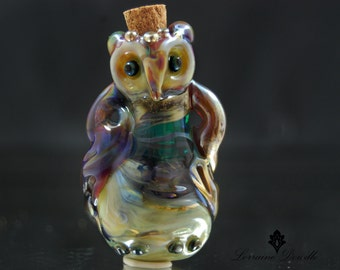 RESERVED For Mrs. B Till Mid August 2017. Hollow Sacred Owl Vessel - ATHENA -  - SRA Lorraine Dowdle