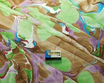 "handmarmorpapier,  marbled paper, marbling  paper, 19.5"" x 27,3"" cm 50 x 70  .マーブル紙,  papel marmolado. -  26400"