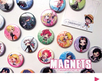 Anime Magnets - Pick 3 or more