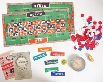 Wheel N Deal vintage vegas casino game . roulette blackjack craps lucky 21 .sale