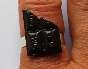 Chocolate bar adjustable ring