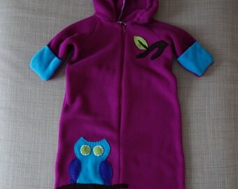 One-Piece OWL Suit for Baby, 3 to 9 Months, Ready to Ship