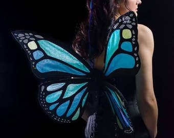 Aqua/purple monach life like butterfly wings