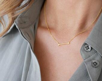 Gold Arrow Necklace | Gold | Sideways Arrow Necklace