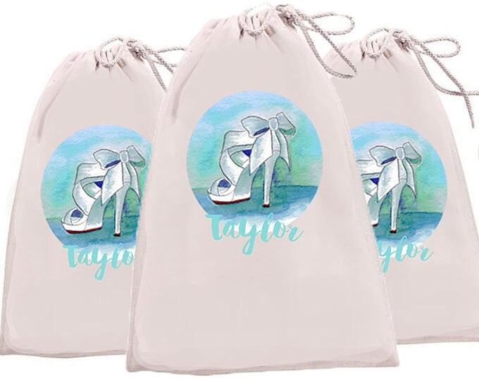 Bridesmaid Bags, Monogrammed Bridesmaid bags, Personalized shoe bags, bride's shoe bag, bridal party shoe bags, bride tribe bags, golf shoe
