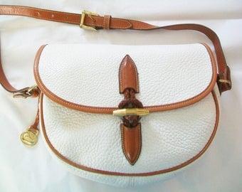Dooney & Bourke Handbag, all leather, key fob, label, 1990s, purse, shoulder bag, medium