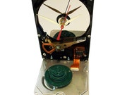 40% OFF! Rare Hard Drive Clock Accented with Gloss (Eco) Green Disk Spindle Component.