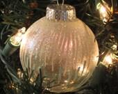 Hand Painted Dray Christmas Ornament - Holiday Ball