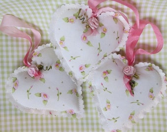 Set of 3 Closet Sachets lily~of~the~valley scented with ribbon to loop over clothes hanger ~ free ship