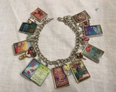 Disney Attraction Postet Altered Art Bracelet