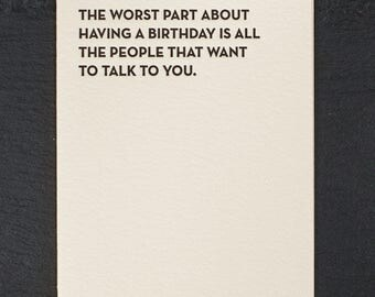 worst part. letterpress card. #928
