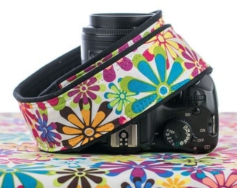 Mod dSLR Camera Strap, Flower Power, Retro, Canon, Nikon, SLR, Mirrorless, 015