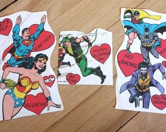 Three DC Marvel Comics Valentines