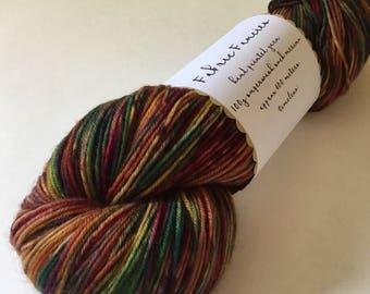 Yarn 'Timeless' Hand painted superwash merino sock/4 ply yarn wool 100g