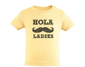 Toddler Boy Tee Shirt Spanish One Piece Hola Ladies Funny Kids Fun Present Gift 100% Cotton Unisex 2T 3T 4T 5T 2 3 4 5 Years Boys Spanglish
