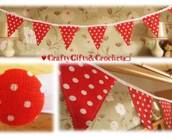 Red & White Dotty Bunting