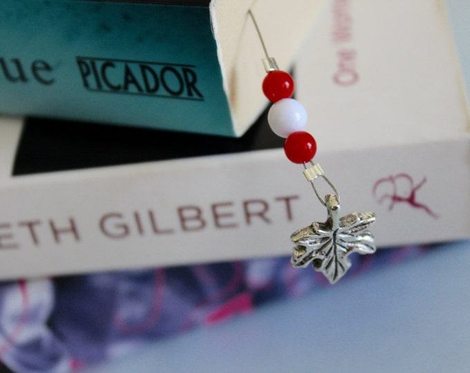 Canada's wonderland beaded bookmark/book thong.