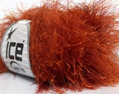 LONG EYELASH copper  superbulky chunky 50gr polyester ice yarns usa fancy fur craft rug 1 skein ships from usa at usps cost 42066