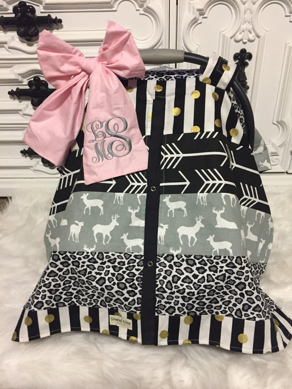 Car seat cover , ADD a matching Jumbo bow with name , jumbo bow , monogram