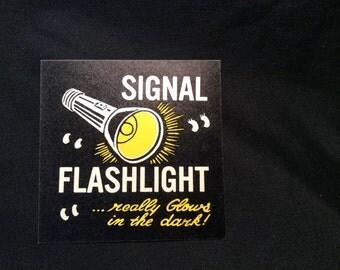 Signal Flashlight  GID Charm/Vending Machine Card/Sticker - 1960s
