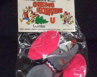 Wonderful World of Disney Christmas Ornament Dumbo MIB - 1970s