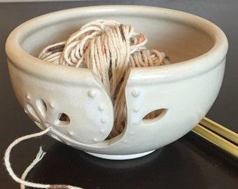 Handmade ceramic yarn bowl