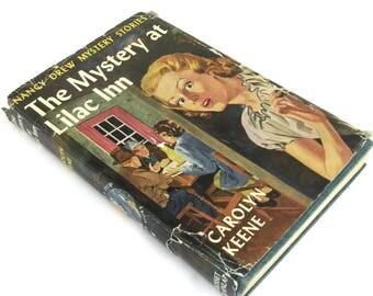 nancy drew mystery story  ...  vintage book circa 1930   ...  the mystery at lilac inn