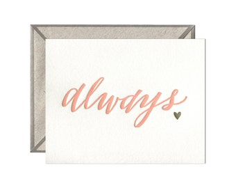 Always letterpress card
