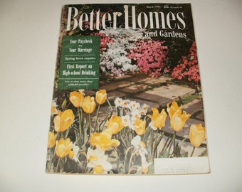 Vintage Better Homes and Gardens Magazine March 1954 - Huge Magazine 284 Pages - Vintage Ads Scrapbooking Retro Collectible