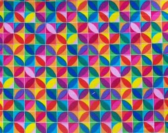 Tribeca Geo Multi Colors by Timeless Treasures Fabrics of SoHo, LLC - 2 Yards, 1 1/2 Yards, 1 Yard, 1/2 Yard, and Fat Quarters        2017