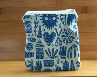 Organic Folk Zipper pouch