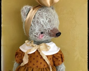 12 inch Artist Handmade Mohair Teddy Bear Valerie by Sasha Pokrass