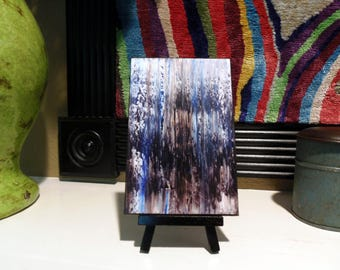 "Miniature Print on Canvas with Easel from Original Abstract Painting by Bryan Dubreuiel 4""h by 6""w Glazed Print"