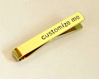 Personalized Brass Tie Clip for Custom Engraving and Stamping - TC712
