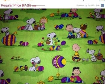 Fun Charlie Brown EASTER Fabric--LAST Piece