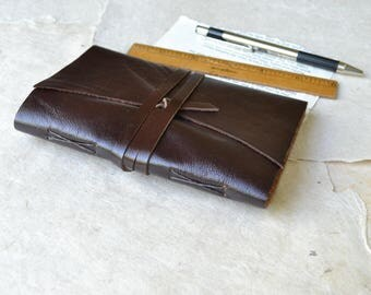 Brown Leather Mini Journal