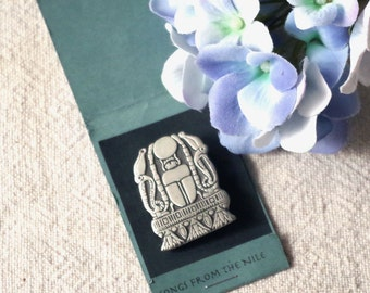 Vintage Pewter Scarab Brooch - Urban Fetishes Alice Seely Pewter Scarab Songs of the Nile Brooch