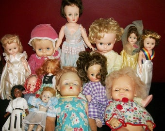 Vintage Doll Lot Sleepy Eyes Open and Close