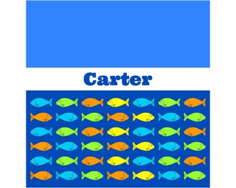 COLORFUL FISH Personalized Kids' Shower Curtain - Kids' Bathroom Decor; Kids' Shower Curtain