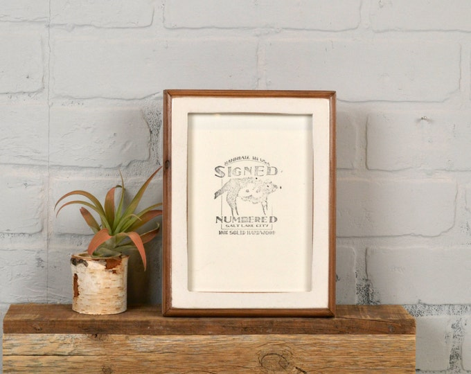 5x7 Picture Frame in 1x1 2-Tone Style with Vintage White Finish - IN STOCK - Same Day Shipping - 5 x 7 Frame Solid Hardwood
