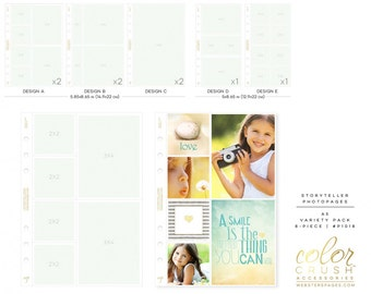 A5 Variety Photo Sleeve Pack (8/pkg) Webster's Pages Planner Pocket Photo Pages for A5 Planner (P1018)