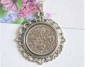 60th birthday gift for women. 1957 birthday. Coin necklace. Sixpence necklace, Coin necklace dated 1957. 1957 jewellery. 1957 birthday gift.