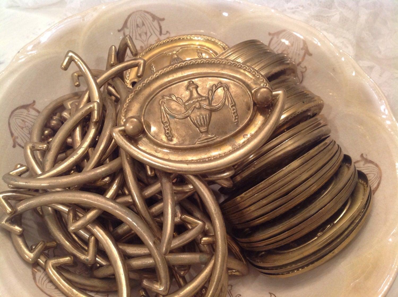 Dresser Hardware Vintage Bail Pulls Brass Victorian Hardware