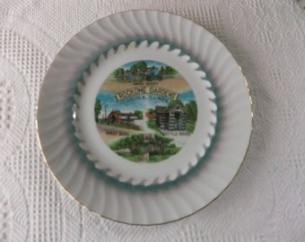Vintage Amish Rockome Gardens Arcola Illinois Souvenir Plate Large Decorative Collector Wall Decor Travel Vacation