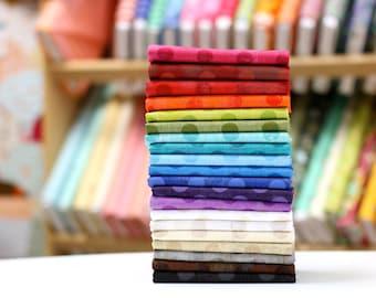 Grunge Basics {Polka Dot} - Half Yard Bundle by Basic Grey 20 Fabrics - Great Stash Builder!